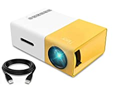 SMALL & COMPACT: This pocket size projector is only 11.9cmx8.6cmx4.8cm (0.29kg), not much bigger than your smart phone. You can take it anywhere in your purse, pack or pocket. ONLY IDEAL FOR HOME ENTERTAINMENT IN DARK CONDITION, NOT recommended for P...