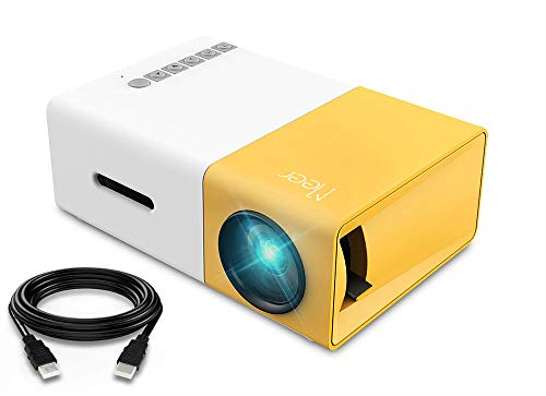 Mini Projector, Meer Portable Pico Full Color LED LCD Video Projector for Children Present, Video TV...