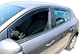 J&J AUTOMOTIVE | Deflecteurs d'air Déflecteurs de Vent Compatible avec Renault Megane 3 III 5 Potres 2008-2016 4pcs