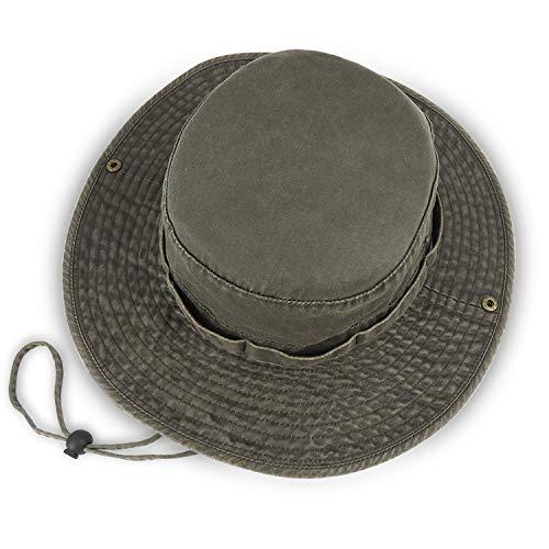 Men Wide Brim Bucket Hat UV Protection UPF 50+ Waterproof Boonie...