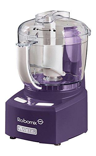 Ariete 1767 Robomix Reverse Mini Robot da Cucina, Trita, Monta, Impasta Grazie alla Funzione'Reverse', Lama Inox, Tazza 400 ml, Viola