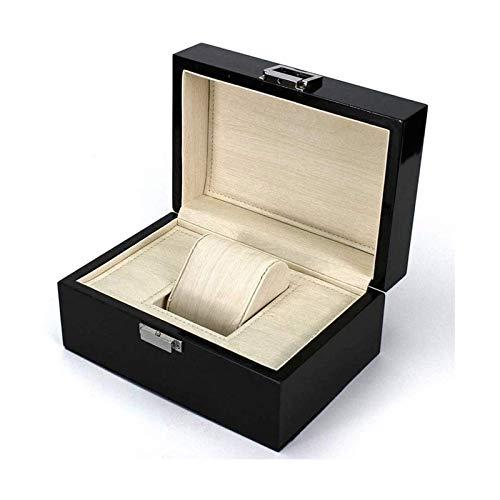 SSHA Joyero Caja de Reloj Caja de Madera Caja de Embalaje Black Varniz Joyería de Gama Alta Organizador de Joyas