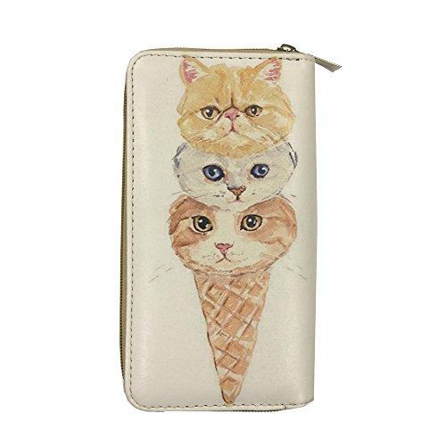 Price comparison product image ALFA Kitten Ice Cream Cone Zip-around Wallet