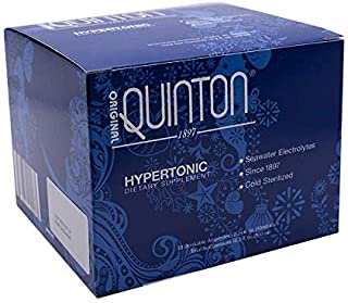 Original Quinton Hypertonic - Concentrated Pure Seawater Electrolyte Liquid Minerals Supplement for Hydration, Muscle Reco...