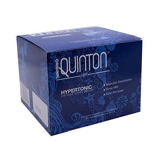 Original Quinton Hypertonic Seawater Electrolyte Supplement - Concentrated Liquid Supplement for Hydration, Muscle Recovery + Energy Support - Electrolyte Drink with Trace Minerals (30 Vials)
