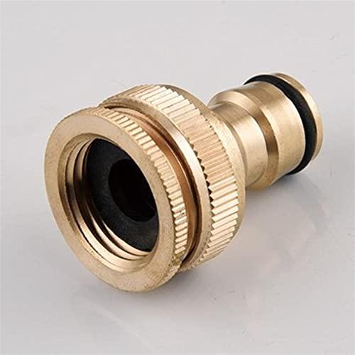 Zkenyao-Adaptadores de manguera 1 unids Pure Brass Faucets Conector Lavadora ametralladora Conexión rápida Conexiones de tubería 1/2'3/4' 16mm Manguera, Fácil de instalar (Diameter : 3/4'')