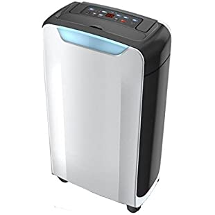 Futura Air Dehumidifier 12 Litre with Ioniser, for Damp, Mould and Moisture, Clothes Drying Function and 24Hr Timer, Portable & Compact Ideal for Home or Office