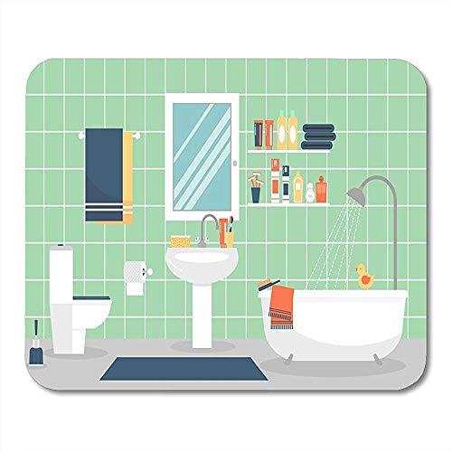 Mousepad Moderne Badezimmer-Innenmöbel In Der Flachen Zahnpasta Und In Den Zahnbürsten-Bürozubehören 25X30Cm Tischrechner-Mattennotizbücher Mausunterlagen