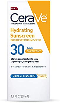 CeraVe Tinted Hydrating Mineral Sunscreen with SPF 30