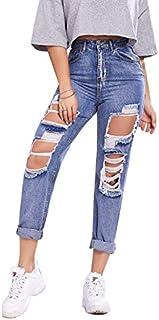 Jeans strappati da donna Denim Denim Jeans Denim Jeans