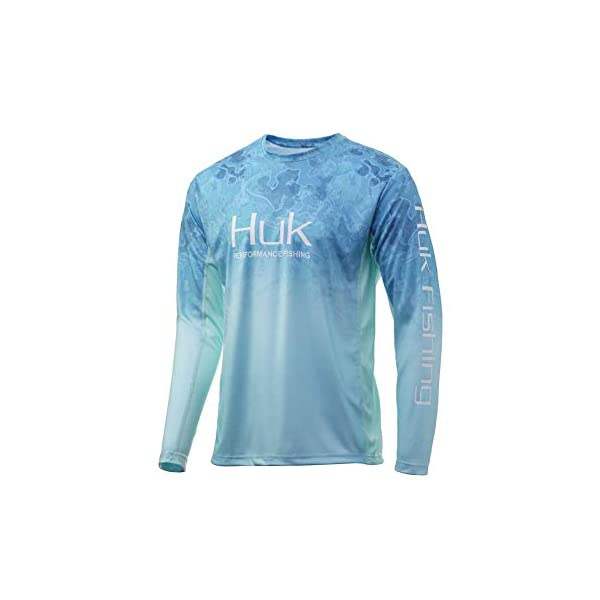 HUK Men's Fishing UPF 50+ Lightweight Icon X Camo Fade Long Sleeve Shirt