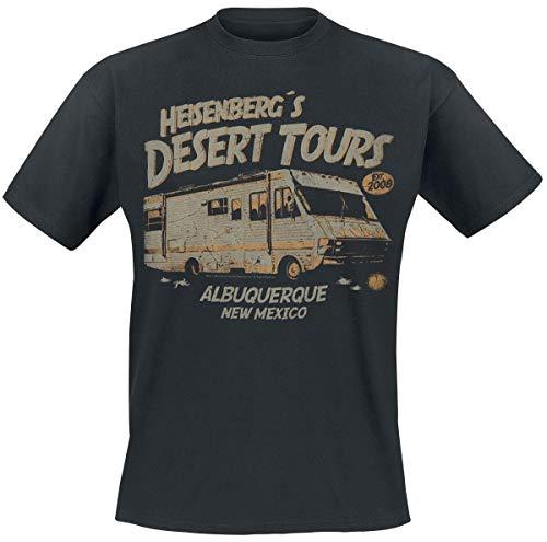 Breaking Bad Heisenberg Desert Tours Männer T-Shirt schwarz L 100% Baumwolle Fan-Merch, TV-Serien