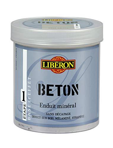 LIBERON Enduit Minéral - Base pour effet béton, Pierre de lune, 1L