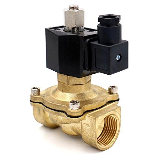 Heschen Elektrisches Magnetventil aus Messing, 2 W-250-25 K, PT 1, AC 220 V, direktes Handeln, für Wasser, Luft, Gas, normalerweise geöffnet