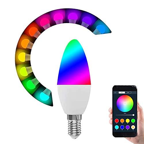 E14 RGB Dimmable Wifi Smart bombilla App Control para Amazon Alexa/Google Home