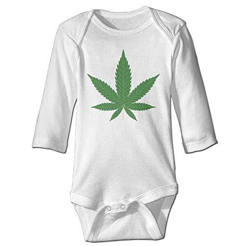tangdouou Marihuana Leaf Weed Smoker Babys Langarm-Siebdruck Grafik Baby Onesie Natural Organic Onesie 6M