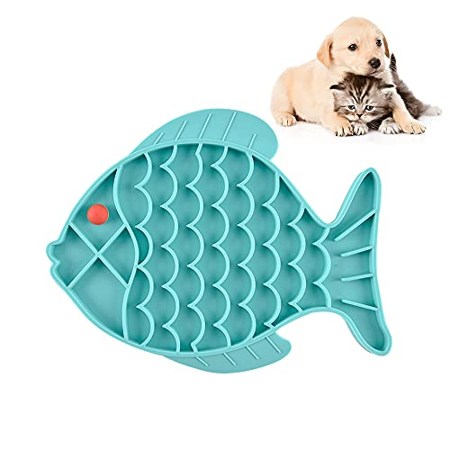 CJBIN Antischlingnapf Hunde, Fisch Knochenform Langsame Fütterung Hundenapf, Slow Feeder Dog Bowl, Futternapf Hund, Schlingnapf Hunde Katze, Antischlingnapf Katze, Slow Feeder für Hunde und Katzen