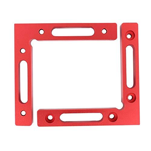Deurreli スコヤ コーナークランプ L形直角クランプ アルミ合金 直角定規 木工用固定工具 センチインチ目盛り DIYツール 2個セット
