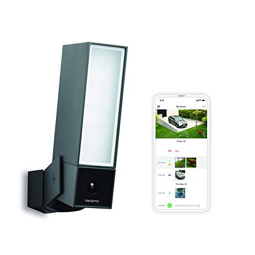 Smart Outdoor Security Camera with integrated floodlight and smart alerts - Netatmo Presence