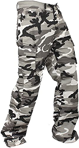 Newfacelook Mens Motorcycle Urban Jeans Pants Reinforced with Aramid Protection I111 Camo W40-L34