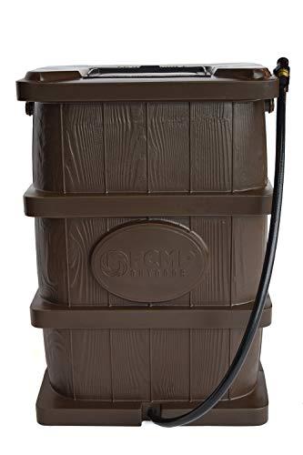 FCMP Outdoor Wood Grain Rain Barrel (Brown)