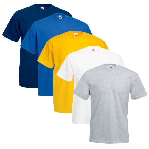 Fruit of the Loom 5er Pack T-Shirts, Farbset III, Größe XXL