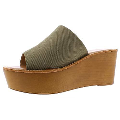 Chinese Laundry Women's Wedge Sandal, Olive, 8