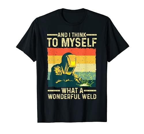 Funny Vintage Welding Design For Men Dad Blacksmith Worker T-Shirt