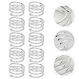 OUNONA 10 Stücke Spirale Serviettenringe für Zuhause, Küche, Esszimmer (Silber) - 8