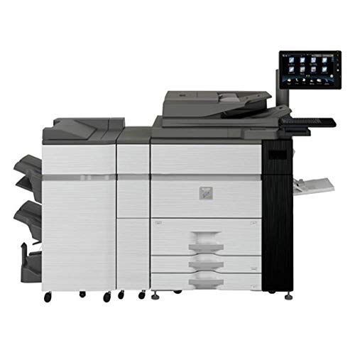 Sharp MX-M1205 Monochrome Digital Laser Commercial Printer - 120ppm, SRA3/A3/A4/A5, Print, Copy, Scan, Stapling Finisher, Auto Duplex, Keyboard, LCD, Tandem Tray, Two Drawers (Renewed)