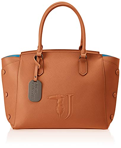 Trussardi Jeans 75B00452-9Y099999, Borsa a Spalla Donna, Marrone (Leather On T O Ne), 32x32x15.5 cm (W x H x L)