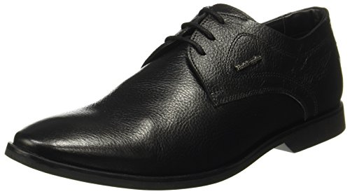 Hush Puppies Men's Aaron Derby Black Leather Formal Shoes-7 (8246872070_8246872)
