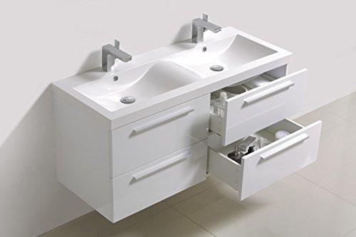 Bernstein Baño Shop–Set de Muebles de Baño R1200Color Blanco–Espejo Opcional a Elegir, Mit Spiegelschrank G1200