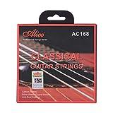 Funien アリスAC168-Hクラシックギター弦クリスタルナイロンコアカーボン弦34〜39インチのクラシックギター用のプロの楽器弦セット