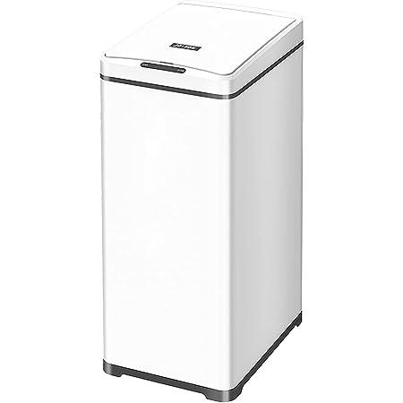 JOBSON(ジョブソン) 自動ゴミ箱 『賢いゴミ箱™ Style』42L 自動開閉ゴミ箱 ゴミ箱 センサー式 縦開閉 スリム ダストボックス おしゃれ におい 全自動 ふた付き 消臭 JB04 [メーカー2年保証] (ホワイト)
