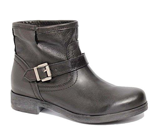 Ovye by Cristina Lucchi Leder Damen Cowboy Boots Echtleder Biker Stiefel Stiefeletten Schuhe Hand Made in Italy (38)