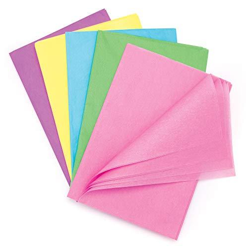 Baker Ross Confezione risparmio di carta velina color pastello (confezione da 25) - Decorazioni creative per bambini a tema primaverile
