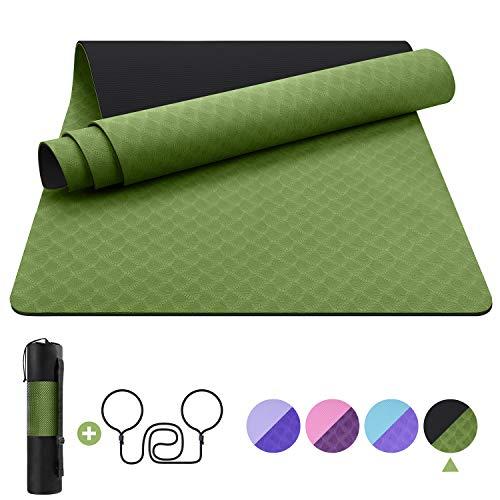 EgoIggo Esterilla Yoga Antideslizante, Yoga Mat...