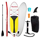 Tabla Hinchable Paddle Surf/Sup Paddel Surf dacon Bomba, Mochila, Aleta Central Desprendible, Kit de Reparación, Remo Ajustable(297 * 76 * 15cm-Grosor)