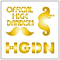 official髭男dism ロゴ カッティングステッカーS 金