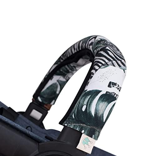 JANABEBE Abdeckung Deckt Griff für Kinderwagen (Zebra, Einzel)