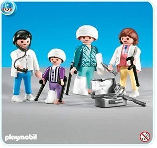 Playmobil® 7920 Krankenhaus-Set - Arzt / Patienten mit Gipsbein / Pflegerin und Zubehör (Sortiert)