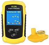 LXNQG Finder Finder Color Inalámbrico Portátil Pesca Pesca Sonar R LCD Profundidad Finder Sonar para Lago Hielo Kayak Barco Pesca