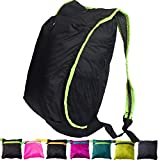 YARWAYER Foldable Daypack,Ultralight Packable Backpack for women girl teens,Durable Packable Hiking Daypack peacock green