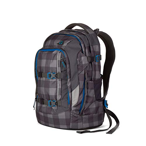 SATCH Checkplaid Kinder-Rucksack, Ash Grey Checks