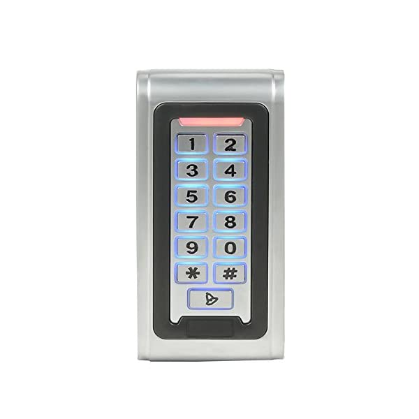 Waterproof Metal RFID Keypad Door Entry Systems & 350lbs Electric Magnetic Lock+110V Power Supply+Push to Exit Button…
