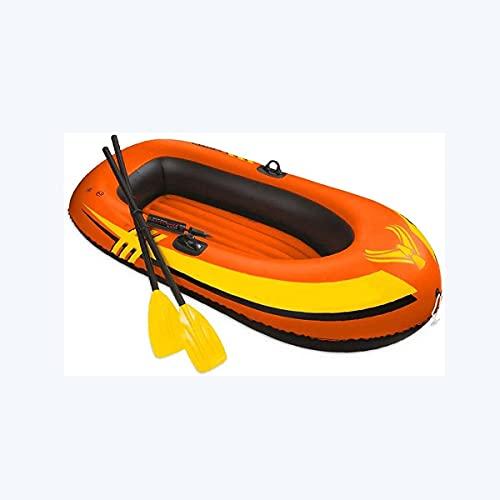 WBJLG Kayak, Bote Inflable Plegable, Bote de Aire con Remo de PVC, con Marco de hélice giratoria y Bomba de Aire de Alto Rendimiento, Herramienta de Buceo a la Deriva para Pesca,