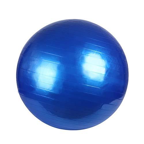QiKun-Home Pelota de Yoga Pilates PVC a Prueba de explosiones Fitball para Ejercicios de Estabilidad Entrenamiento Gimnasio Pelota Antideslizante y Antideslizante Pelota de Pilates Azul 55cm