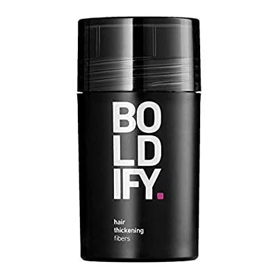 BOLDIFY Hair Fibers for Thinning Hair 100% Undetectable & Natural - Giant 12g Bottle - Completely Conceals Hair Loss in 15 Seconds - Hair Thickener & Topper for Fine Hair for Women & Men