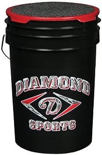 Diamond Empty Ball Bucket with Padded Lid